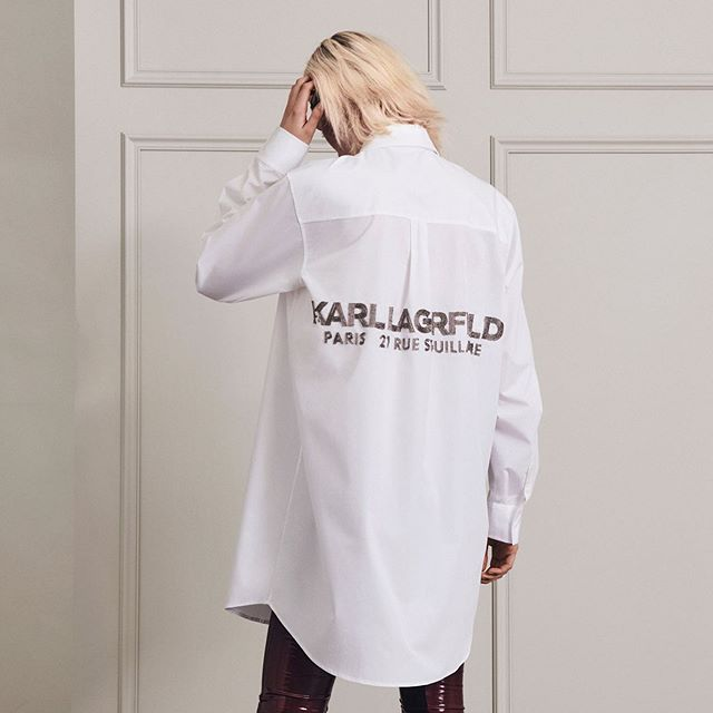 Fact: you can never go wrong with a tailored white shirt. #KARLLAGERFELD