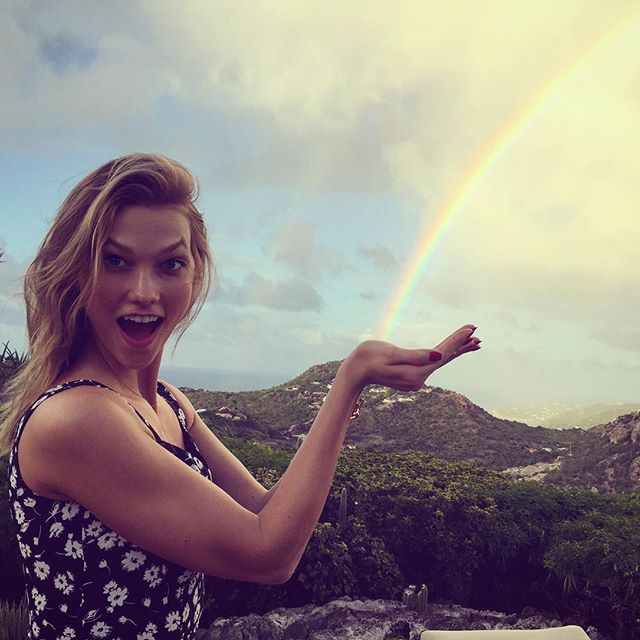 Happy birthday to my favorite leprechaun, garden gnome, pizza slicer, baby sitter, co-pilot and posing partner. (Really, what can t @karliekloss do?)