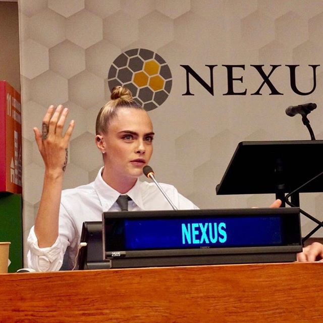Love is my hero, and it always will be. And it can save the world if we understand it.    So honored to be able to share my mental health story at the UN for @thenexussummit. #WeAreNexus