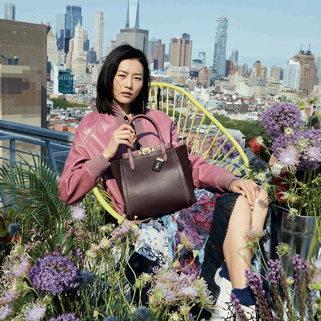 Basking in Flower Power and...Chair Power (??) for the new @coach campaign! Thanks for creating these beautiful gardens @stuartvevers #juergenteller #venetiascott        @dickpageface       @hairbychristiaan