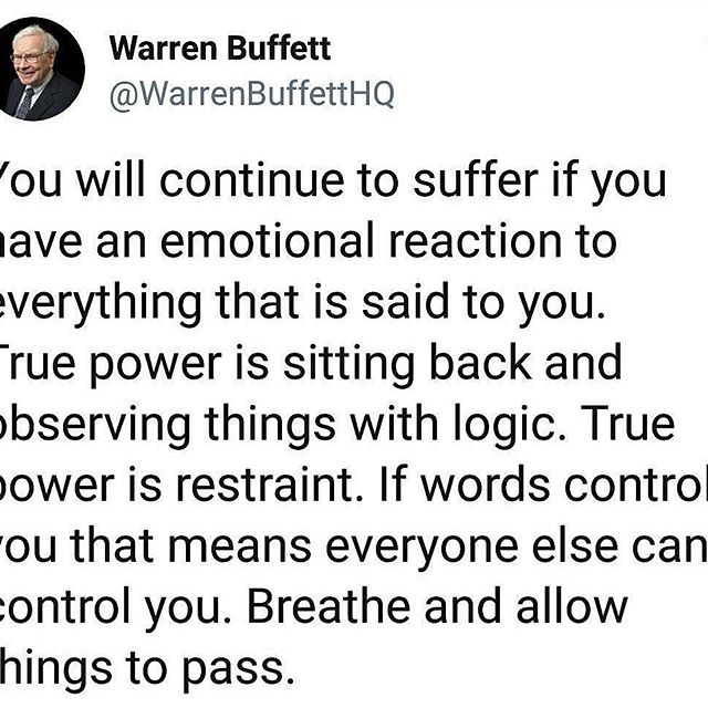 Thank you Mr. Buffet @officialwarrenbuffett