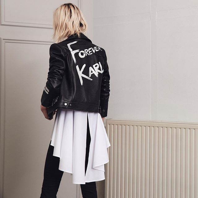 Forever Karl. Discover the latest arrivals, including rock-chic biker jackets. #KARLLAGERFELD