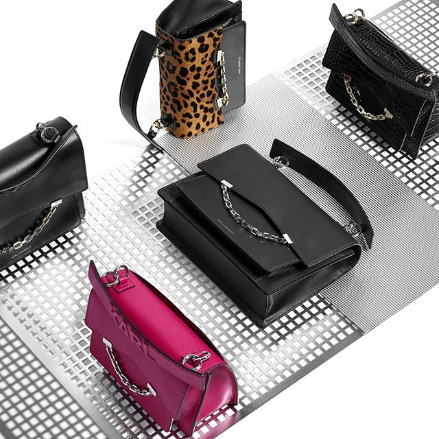 This season's must-have bag, the KARL SEVEN, is available in seven exclusive colors and prints. Which will you choose? #KARLLAGERFELD