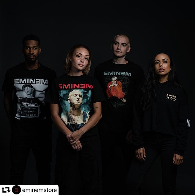 #Repost @eminemstore - Hit the link in bio     Get first dibs on the store's general stock relaunch - OG designs, Kamikaze collection + a brand new female collection - 20% off if you pre-order this week + guaranteed availability of what you want!