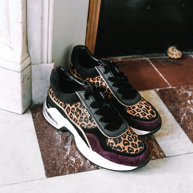 Go wild: this season's hottest sneakers combine bold leopard print with contrasting textures. #KARLLAGERFELD