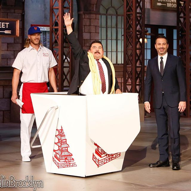 A special delivery from @Mets pitcher @NSyndergaard...      @IamGuillermo #KimmelinBrooklyn