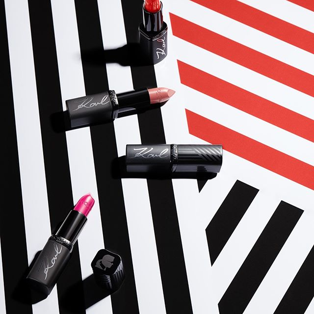 What's your favorite lipstick shade?   Pucker up in the special-edition #KARLXLOREALPARIS makeup collection.