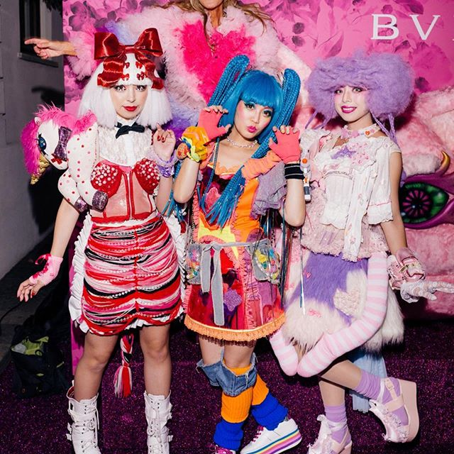 In @tomo_koizumi    at @voguejapan 20th anniversary party with @bulgariofficial and @kawaiimonstercafe girls     #mfw