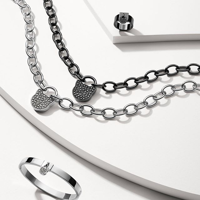 The key to modern elegance begins with chic jewelry styles. #KARLLAGERFELD