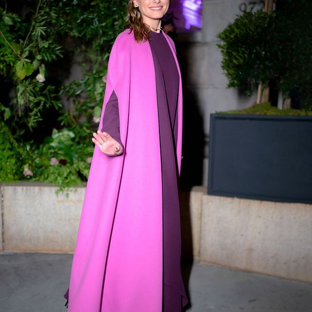 @maisonvalentino   Shades of purple for the launch of their new fragrance last night.