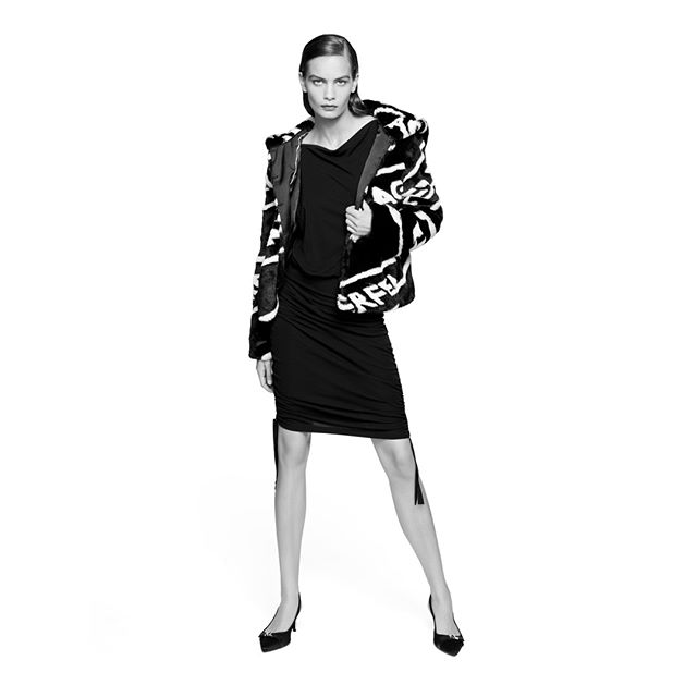 Who says a coat can't be cozy AND chic? #KARLLAGERFELD