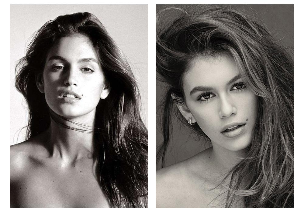 Удам дамжсан шинэ үеийн моделиуд Синди Кроуфорд ба Кайя Гербер