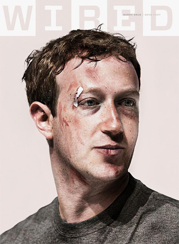 Марк Цукербергийн зодуулсан зураг Wired сэтгүүлийн нүүрэнд