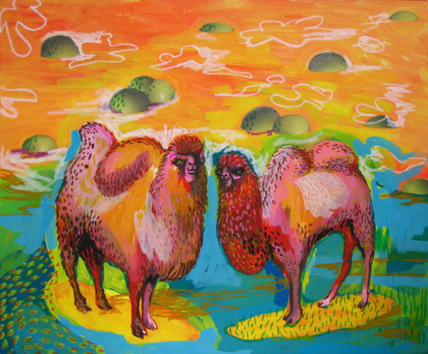 Camel couple, 2006 (acrylic, collage, marker, color pencil, pencil on craft paper,530mm-652mm)