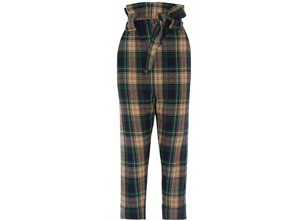 "Vivienne Westwood<p><a style="""" target=""_blank"" href=""https://www.net-a-porter.com/mn/en/product/909982/vivienne_westwood_anglomania/new-kung-fu-tartan-wool-blend-tapered-pants"">net-a-porter.com</a></p>"