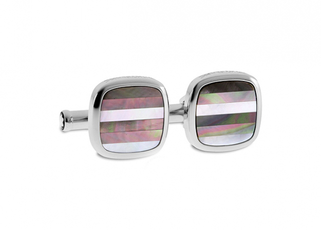 Contemporary Striped Mother of Pearl Cufflinks