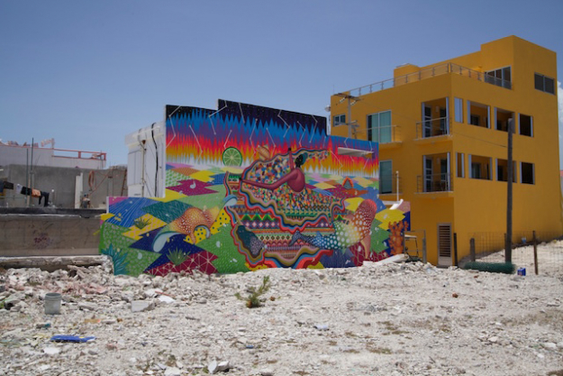 SEA WALLS : Mural for oceans in Mexico by PangeaSeed