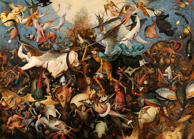 """The Fall of the Rebel Angels\"", 1562, Royal Museums of Fine Arts of Belgium, Brussels"