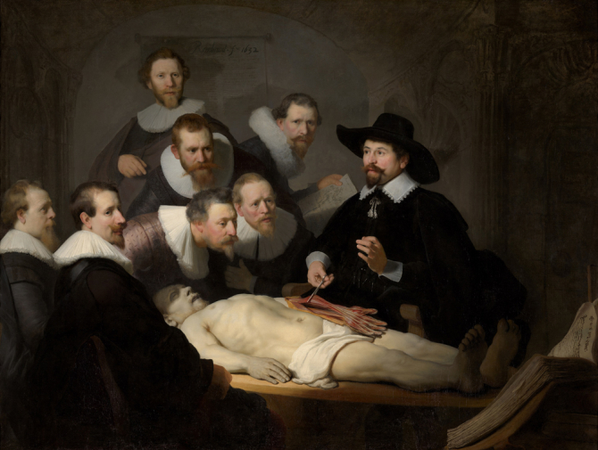 """The Anatomy Lesson of Dr. Nicolaes Tulp\"", 1632, Mauritshuis, Hague"