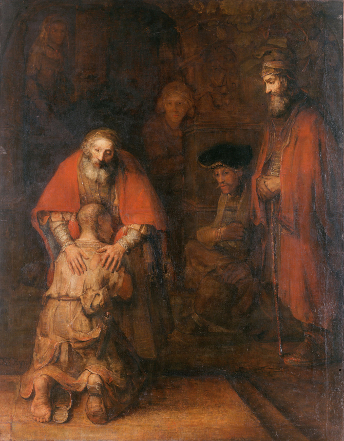 """The Return of the Prodigal Son\"", 1669,  Hermitage Museum, Saint Petersburg"