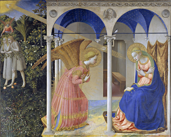 """Annunciation\"", 1425 - 1428, Fra Angelico"