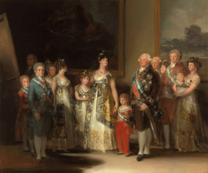"""Charles IV of Spain and his family\"", 1800, Francisco Goya"