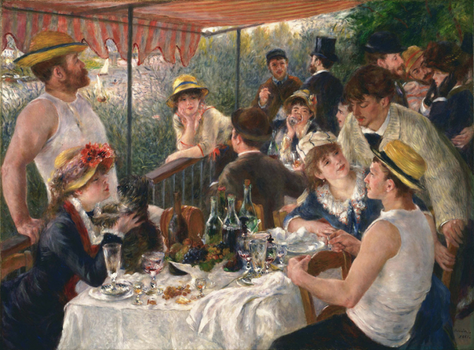 """The Luncheon of the Boating Party\"", 1880 - 1881, Philips Collection, Washington, US"
