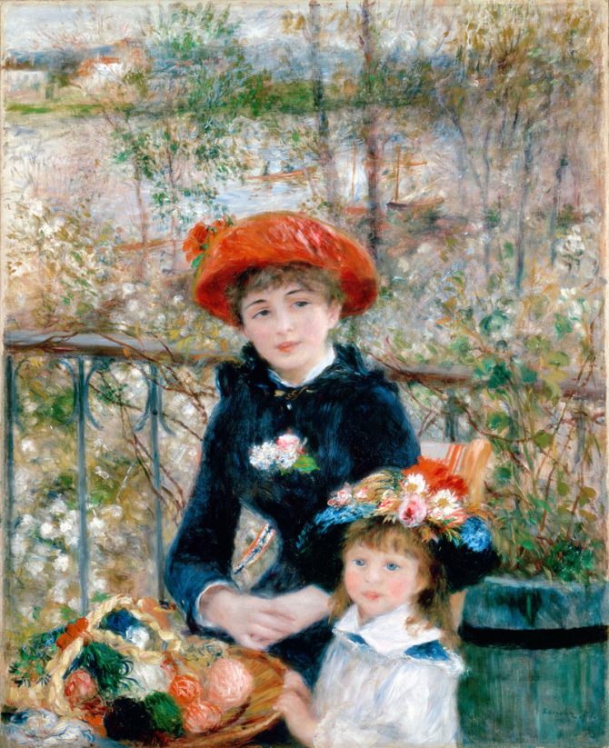 """Two Sisters (On the Terrace)\"", 1881, Art Institute of Chicago"